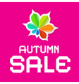 Autumn Sale Pink Background vector image vector image
