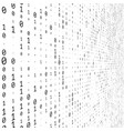binary numbers texture vector image vector image