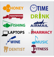 business icons with text eps10 vector image vector image