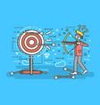 businessman hits target vector image vector image