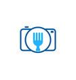 camera food logo icon design vector image