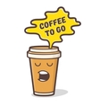 Cartoon comic coffee cup vector image
