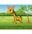 Cartoon Happy giraffe in the jungle vector image vector image
