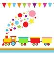 Cartoon Locomotive vector image vector image
