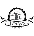 certified seal logo with banner graphic vector image vector image