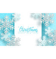 christmas background with shiny silver snowflakes vector image vector image