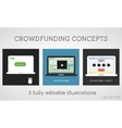 crowdfunding concepts set Online fund the vector image vector image