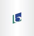 dark green blue b letter b logo icon vector image vector image