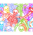 day of the dead seamless pattern multicolored vector image vector image