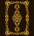 decorative vintage frame or border to be printed vector image vector image