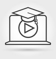 distance e-learning icon vector image vector image