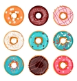 donut isolated on a light vector image vector image