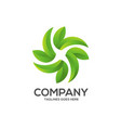eco environment green leaf nature logo vector image vector image