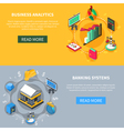 Financial Isometric Icons Banners Set vector image vector image