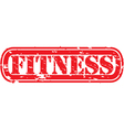 Fitness stamp vector image vector image