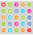 Flat arrow icons 5 vector image vector image
