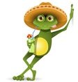 Frog in a hat vector image vector image