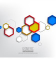 geometric colorful hexagonal shapes background vector image vector image