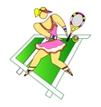 Girl Tennis Player vector image