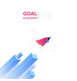 goal achievement - modern isometric web vector image vector image