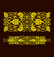 gold floral patterns in ethnic national style uzb vector image vector image