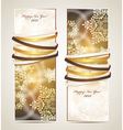 Greeting cards with ribbons vector image vector image