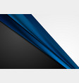 grey black and dark blue abstract corporate vector image vector image