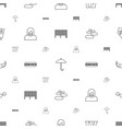 grunge icons pattern seamless white background vector image vector image