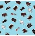 Hand drawn online cinema pattern vector image vector image