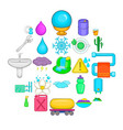 heat conductor icons set cartoon style vector image vector image
