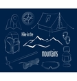 Hike in the mountains vector image vector image