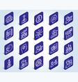 human resources icons head hunting job signs vector image