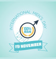 international men s day 100 percent vector image vector image