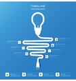 Light Bulb Timeline Business Infographic Design vector image