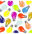 light bulbs colour pattern vector image vector image