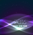 new year design in wave style vector image vector image