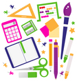 School accessories set isolated on white vector image vector image