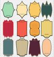 set of vintage labels vintage vertical frames vector image