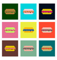 set pixel icons of burger vector image vector image