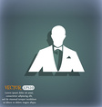Silhouette of man in business suit icon On the vector image vector image