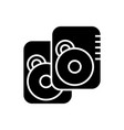 speakers -hard disk icon vector image