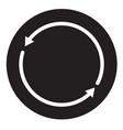 synchronization icon on white background vector image
