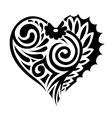 tatoo heart vector image vector image