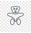 teddy bear toy concept linear icon isolated on vector image