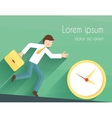 Time management poster vector image vector image
