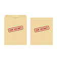 top secret envelope vector image vector image