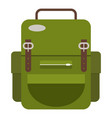 travel backpack icon flat style vector image vector image