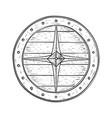 viking shield hand drawn sketch vector image vector image