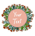 web banner template pattern wreath cacti with vector image vector image