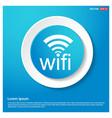 wifi icon logo abstract blue web sticker button vector image